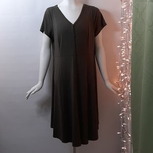 Torrid Plus 1X Green Stretch Dress
